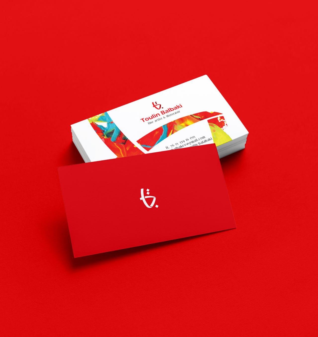 Toulin Balabaki visual ID for Business card.