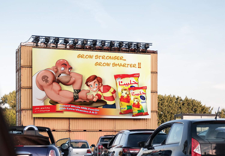 Billboard on a wall.