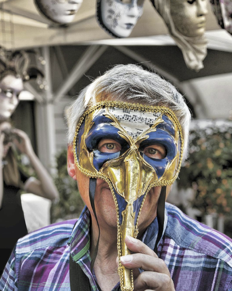 Man with mask.