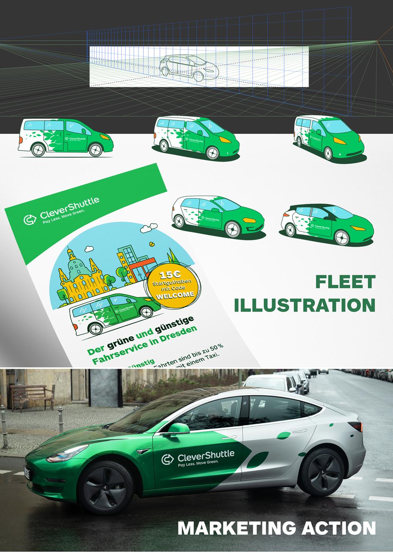 CleverShuttle running Tesla among it's fleet.